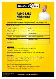 Wettermüllers Mini-Lyoner Cordon bleu´s mit Senf ... - Radio Salü