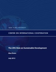 The UN's Role on Sustainable Development - Center on ...