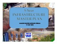 5-year Infrastructure Master Plan - Umgeni Water
