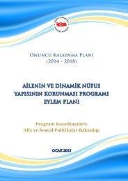 Ailenin ve Dinamik Nüfus Yapısının Korunması Programı Eylem Planı