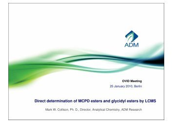 Direct determination of MCPD esters and glycidyl esters by ... - OVID