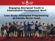 Engaging Aboriginal Youth in International Development Work Case ...