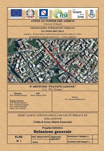 Relazione generale - Comune di Torre del Greco
