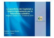 PDF (PARTE 1 - Le specifiche dei Capitolati e l ... - Regione Veneto