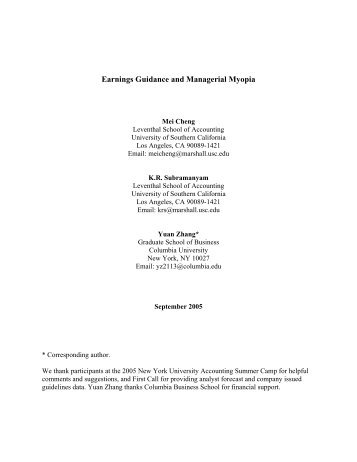 Earnings Guidance and Managerial Myopia.pdf