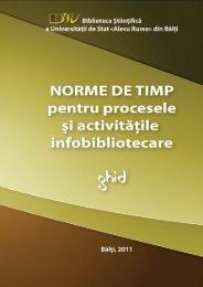 Norme de timp pentru procesele şi activităţile infobibliotecare
