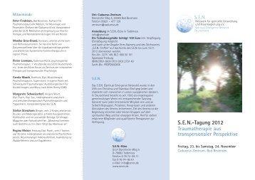 S.E.N.-Tagung 2012 Traumatherapie aus transpersonaler Perspektive