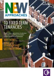 New approaches to using fixed term tenancies