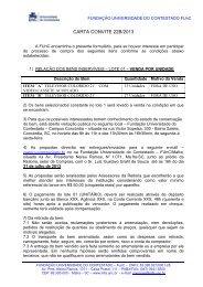 CARTA CONVITE 22B/2013 - UnC