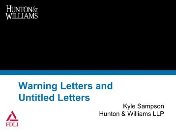 Warning Letters and Untitled Letters