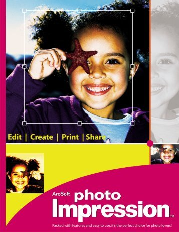 ArcSoft PhotoImpression 5 Quick Start Guide - Visioneer