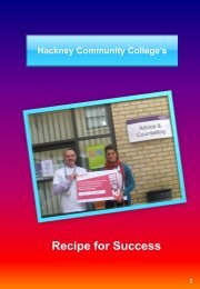 Hackney Community College recipe for success - MHFE
