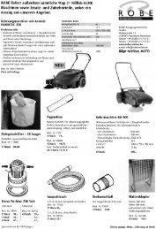 R 0 B E - Robe Reinigungsmaschinen GmbH