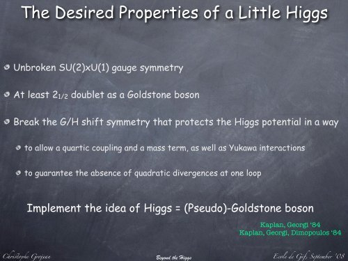 Beyond the Higgs