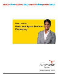 Earth and Space Science— Elementary - Achieve3000