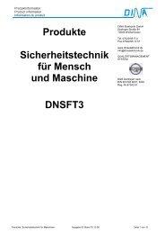 Produkte Sicherheitstechnik für Mensch und Maschine DNSFT3
