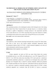 mathematical modelling of nitrification capacity of the waste water ...