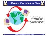 Window's User Moves to Linux - Laura Jeanne Knapp