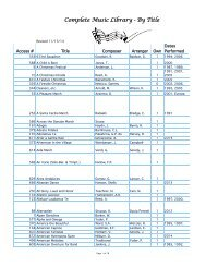 Complete Music Library-Title.pdf - Seward Concert Band Home Page