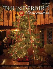 TOURs | wINEmakERs' DINNERs - Thunderbird Lodge