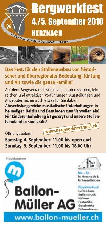 Das Fest, für den Stollenausbau von histori - Verein Eisen und ...