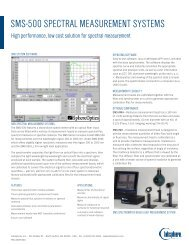 SMS-500 SPECTRAL MEASUREMENT SYSTEMS - Labsphere Inc