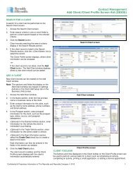 Add Client Screen Aid - Reynolds & Reynolds Contact Management