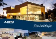 Watpac Specialty Services Capability Statement | 2013