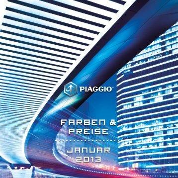 Preisliste Piaggio - Mototrend