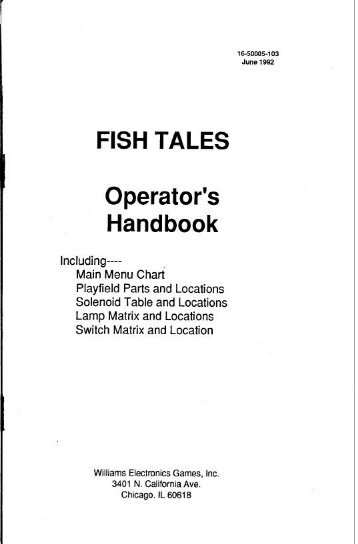 Fish Tales Handbook