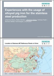 Experiences with the usage of alloyed pig iron for the stainless steel ...