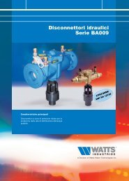 Disconnettori idraulici Serie BA009 - Watts Industries