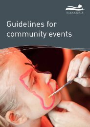 Guidelines for community events - Nillumbik Shire Council