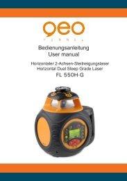 Bedienungsanleitung User manual FL 550H-G - geo-FENNEL GmbH
