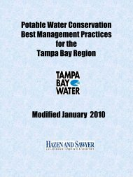 Potable Water Conservation Best Management ... - Tampa Bay Water