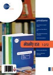 aktuality 858 1-2/2012 - GS1 Slovakia