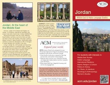 Jordan program brochure - Associated Colleges of the Midwest