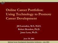Online Career Portfolios - The Career Center