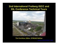 2nd International Freiberg IGCC and XtL Conference Technical Tours