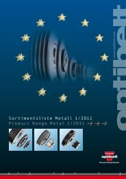 Sortimentsliste Metall 1/2O11 Product Range Metal 1/2O11 > > >