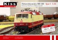 Elektrolokomotive BR 120 Spur 1 1:32 - Kiss Modellbahnen
