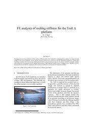 FE analyses of rocking stiffness for the Troll A platform - Kivi Niria