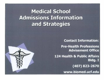 Medical School Admissions - UCF College of Medicine - University ...