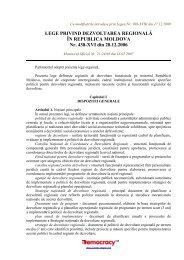 lege privind dezvoltarea regională în moldova (17.12.2009)