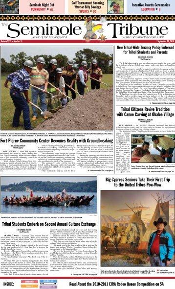 September 30 - Seminole Tribe of Florida