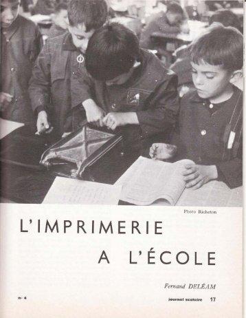 L'imprimerie à l'école - icem-freinet.net