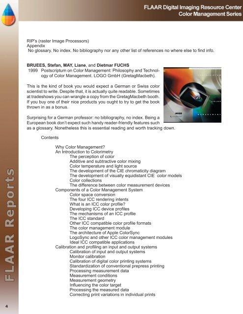Color Management books - Digital photography camera reviews