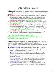 Oftalmologija - pitanja - Beli Mantil