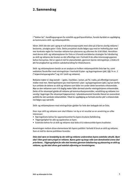 Skilt- og reklameplanen - Plan- og bygningsetaten
