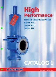 LESER High Performance Safety Valve ... - Pressure Systems